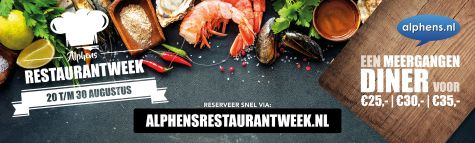 Alphens Restauratnweek augustus 2020 nieuws